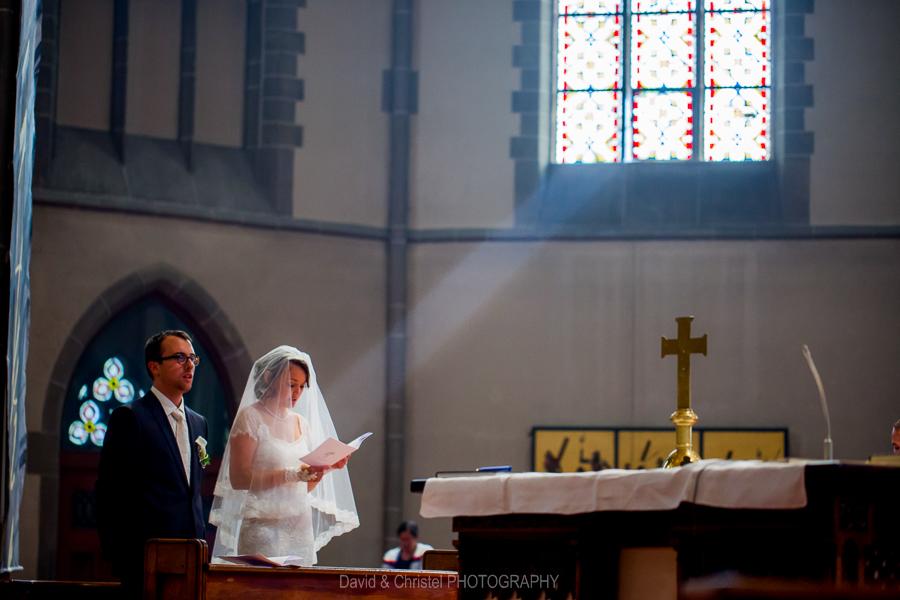 Cérémonie de mariage à l'église Saint-Paul de Strasbourg