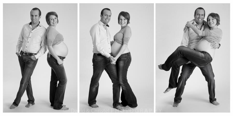 photos de couple grossesse en noir et blanc