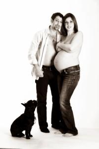 photo grossesse et chien