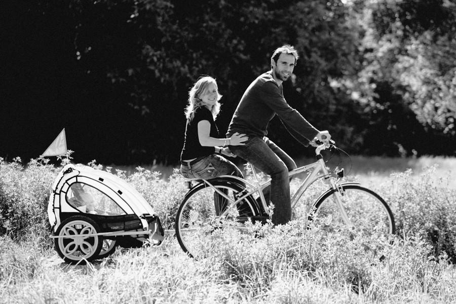photo de famille à vélo