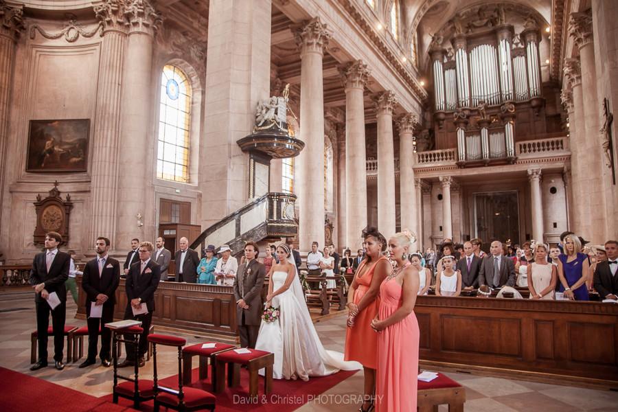 photo de mariage dans léglise notre dame de guebwiller