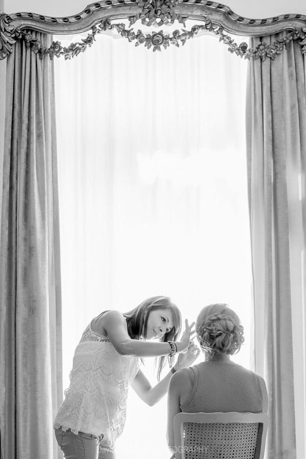 photo preparatif de la mariée