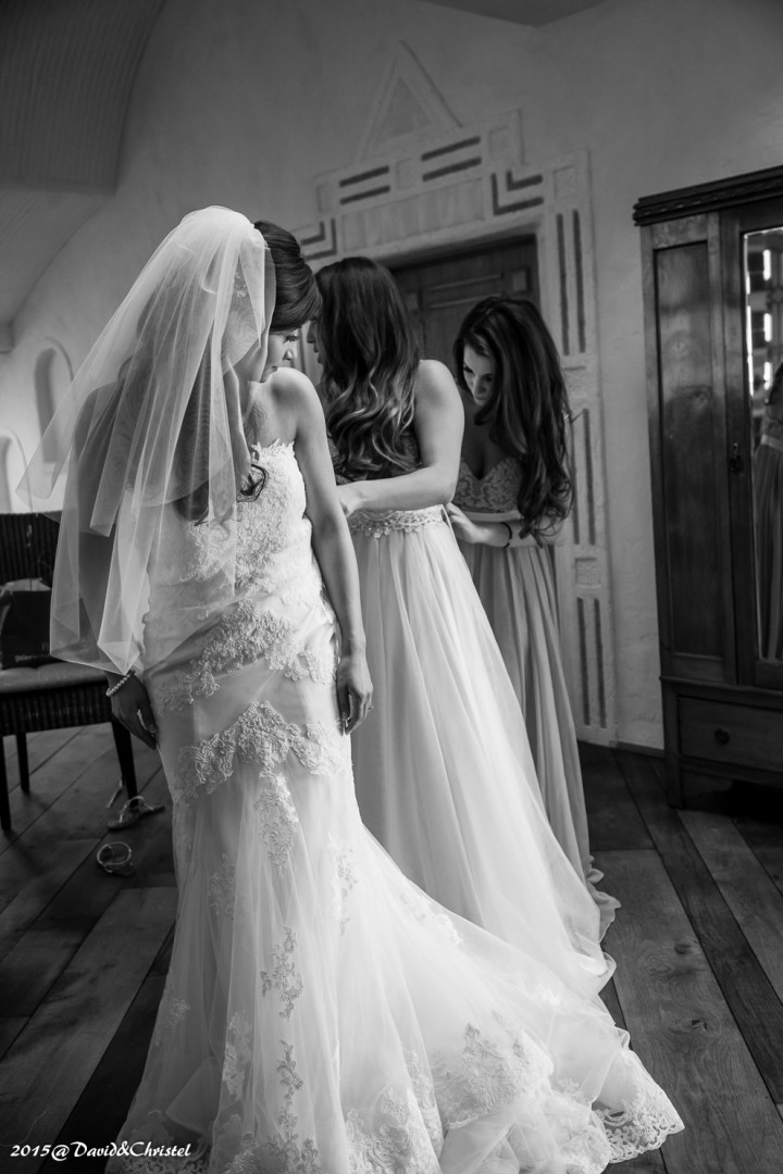 les preparatifs de la mariée