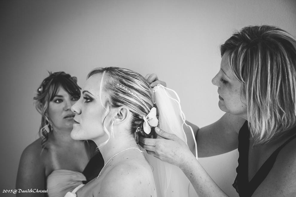 Preparatifs de la mariée
