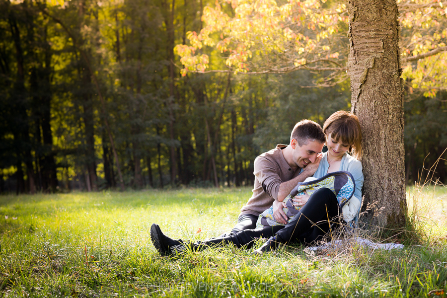 photo de famille en automne