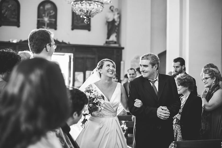 la mariée a l'eglise