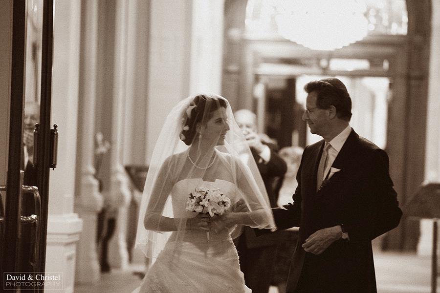 la mariée et papa