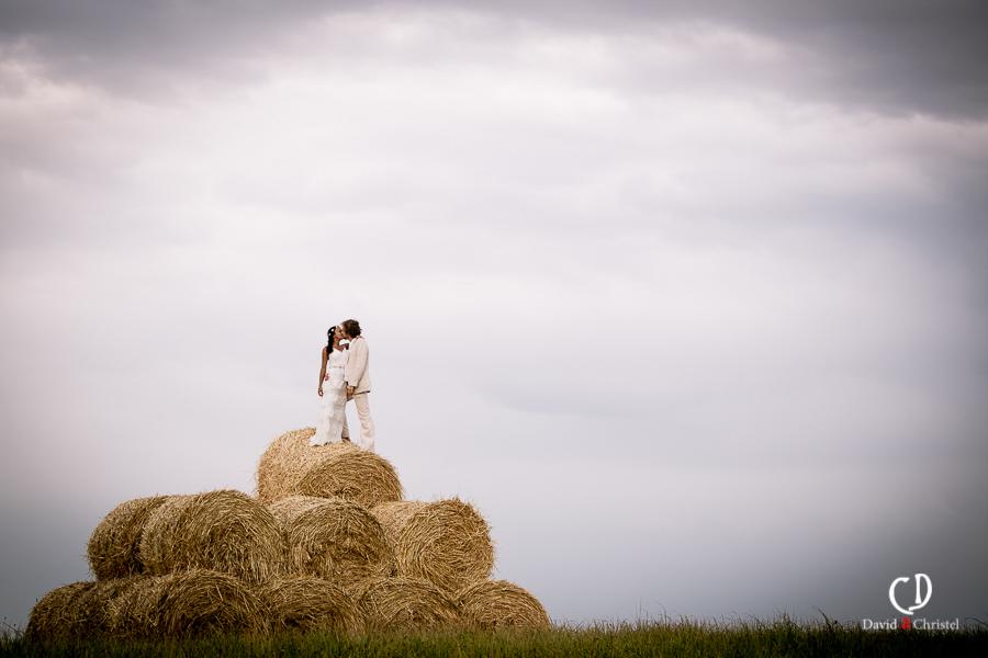 photographie de mariage champetre