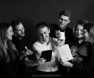 Photos d'entreprise avec l'équipe d'Oxygen Strasbourg