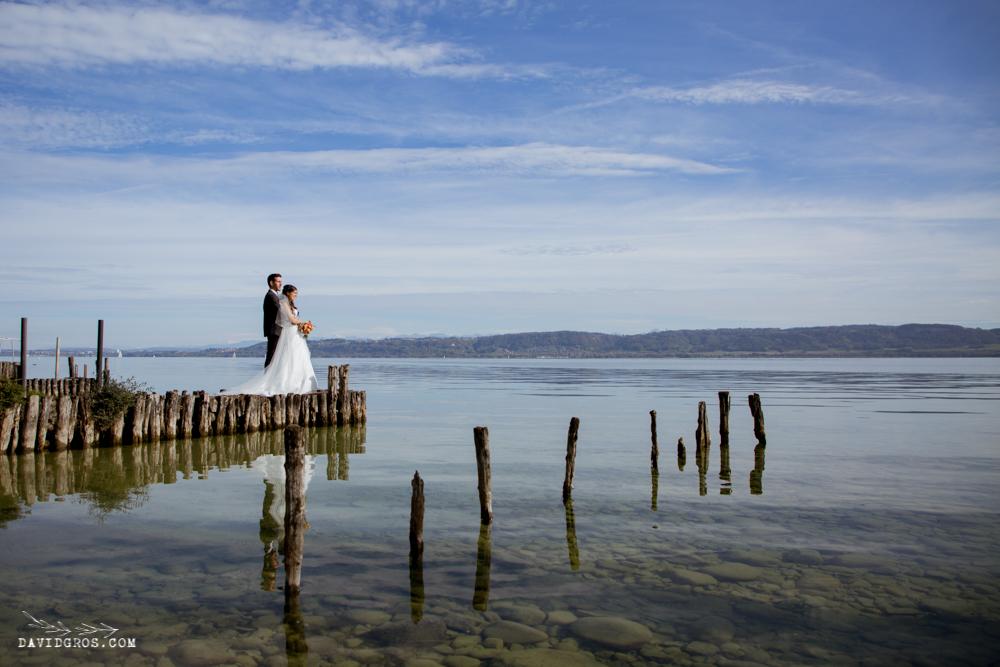 photo mariage lac de neuchatel