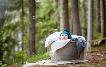 Photos de famille en montagne et en forêt