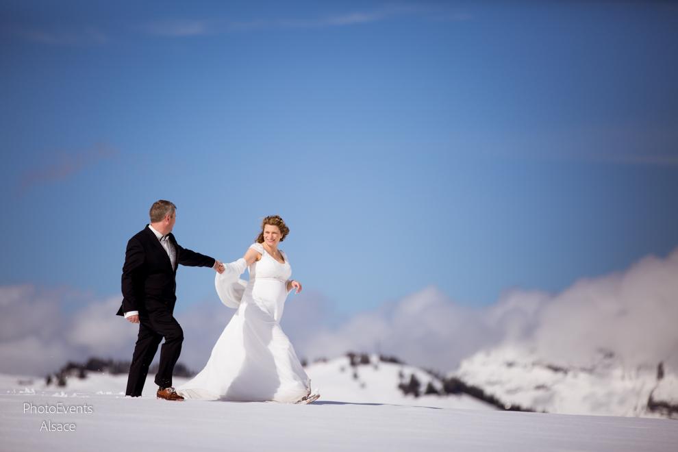 Mariage dans les Alpes